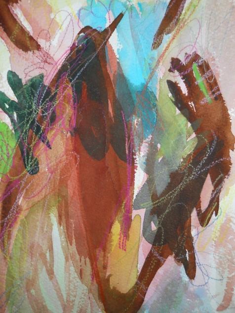 "Brown-eyed Girl, 10"" x 7"", watercolor, 2001, $50"