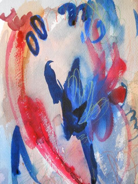 "Deep Blue, 10"" x 7"", watercolor, 2002, $50"