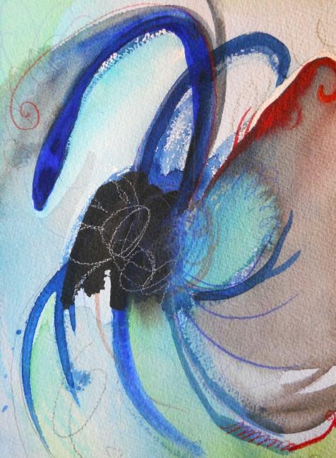 """Starlight, 10"""" x 7"""", watercolor, 2001, $50"""