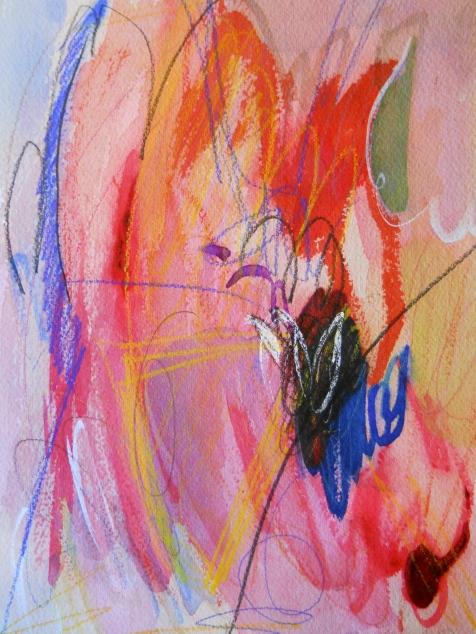 "Inferno, 10"" x 7"", watercolor, 2001, $50"