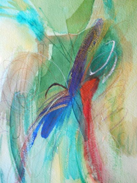 """Internalize, 10"""" x 7"""", watercolor, 2001, $50"""