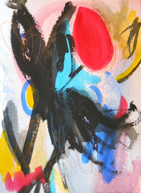 """Galaxy, 10"""" x 7"""", watercolor, 2002, $50"""