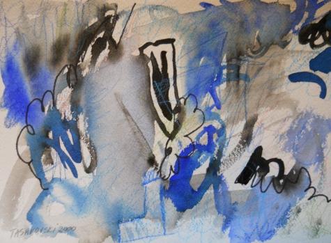 "Energize, 7"" x 10"", watercolor, 2000, $50"