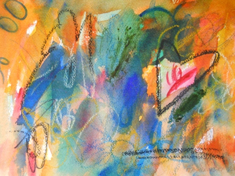 "Destiny Tuning, 7"" x 10"", watercolor, 2000, $50"