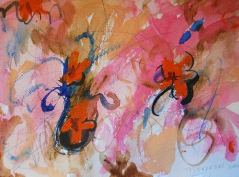 "Vision Board, 7"" x 10"", watercolor, 2000, $50"