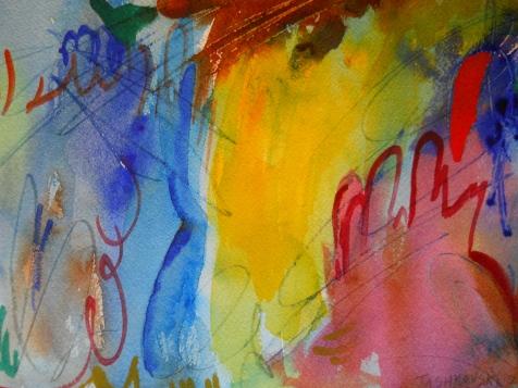 "Primary Juncture, 7"" x 10"", watercolor, 2000, $50"