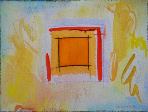 "Box 2, 9"" x 12"", watercolor, 2001, $75"