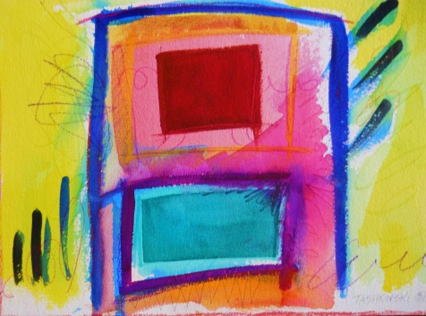 "Box 7, 9"" x 12"", watercolor, 2001, $75"
