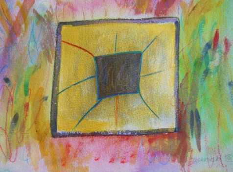 "Box 17, 9"" x 12"", watercolor, 2001, $75"