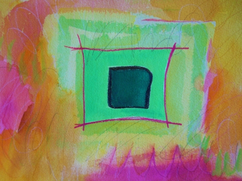 "Box 9, 9"" x 12"", watercolor, 2001, $75"
