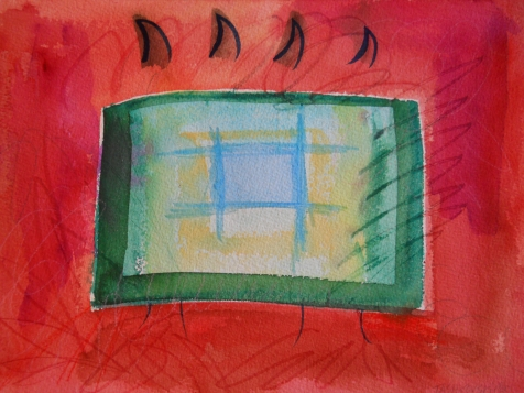 "Box 5, 9"" x 12"", watercolor, 2001, $75"