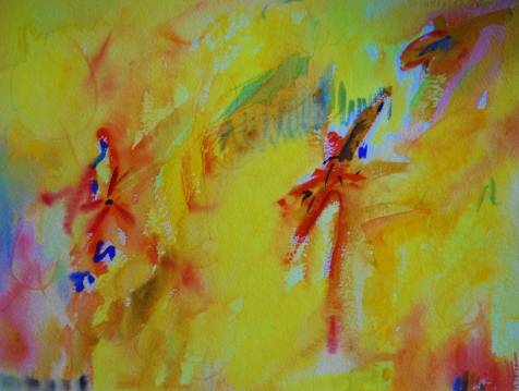 "Abstract 2, 12"" x 16"", watercolor, 1999, $95"