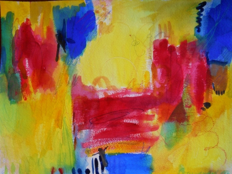 "Abstract 3, 12"" x 16"", watercolor, 1999, $95"