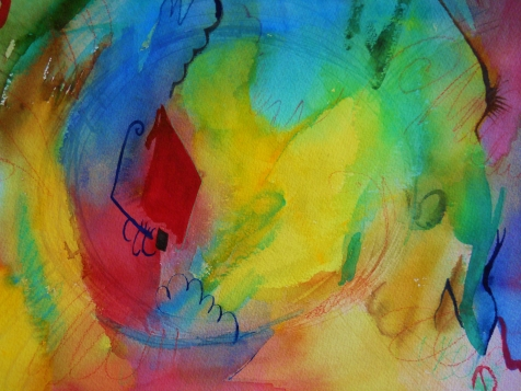 "Abstract 11, 12"" x 16"", watercolor, 1999, $95"