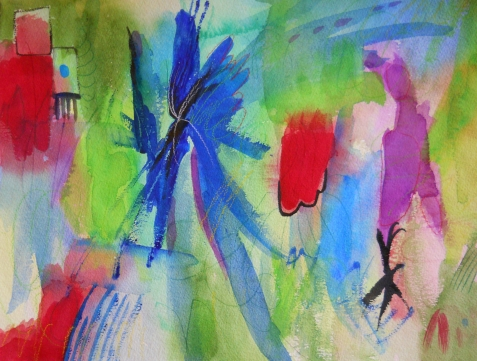"Abstract 12, 12"" x 16"", watercolor, 1999, $95"