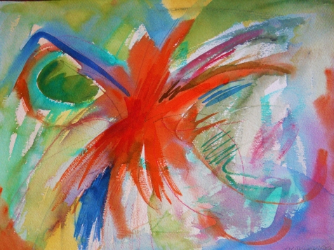 "Abstract 9, 12"" x 16"", watercolor, 1999, $95"