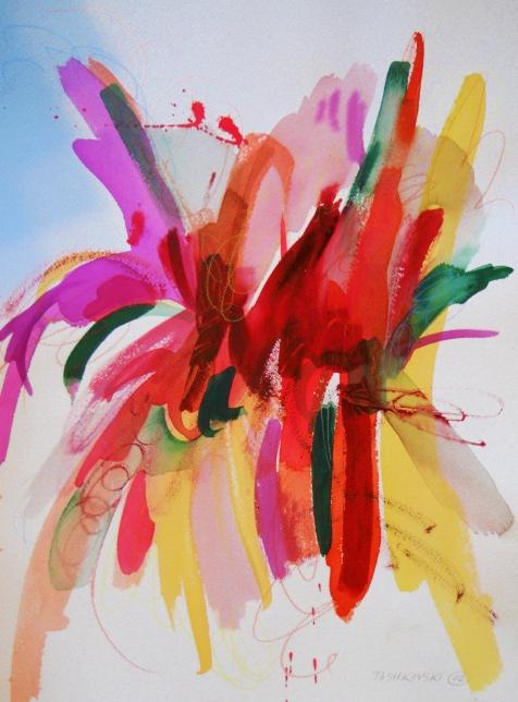 "Pumped, 16"" x 12"", watercolor, 2002, $95"