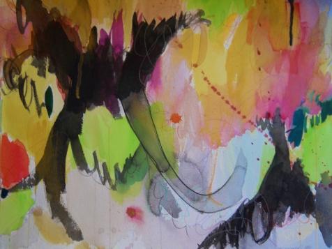 """Dark Magic, 18"""" x 24"""", watercolor, 2002, $200"""