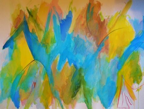 """Sky Creature, 18"""" x 24"""", 2001, $200"""