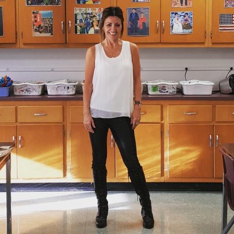 BCBGMaxAzria top and leggings, Ralph Lauren boots