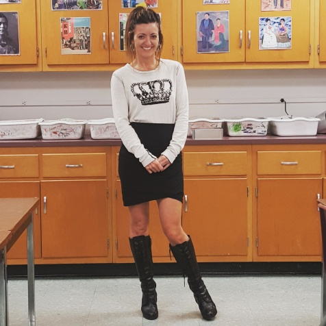 BCBGMaxAzria sweater (reversible!), Banana Republic skirt, Ralph Lauren boots